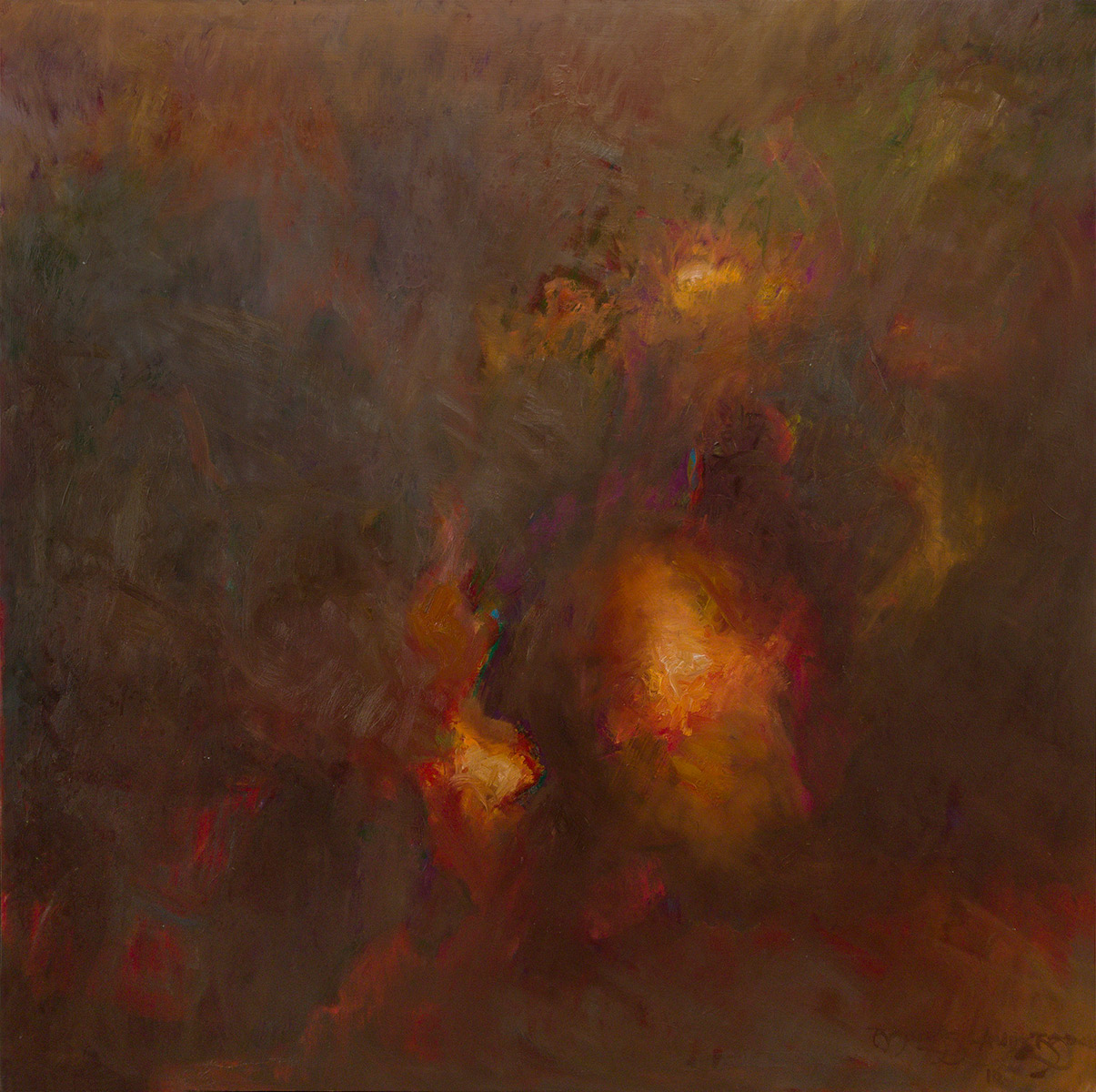 "REEMERGENCE, NO. 3   oil on canvas 36"" x 36"""