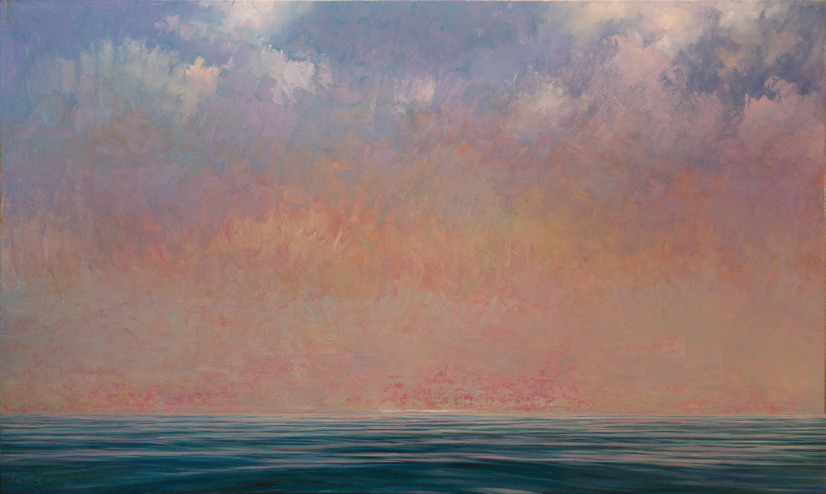 "ABOVE AND BELOW   36"" x 60""  oil on canvas"