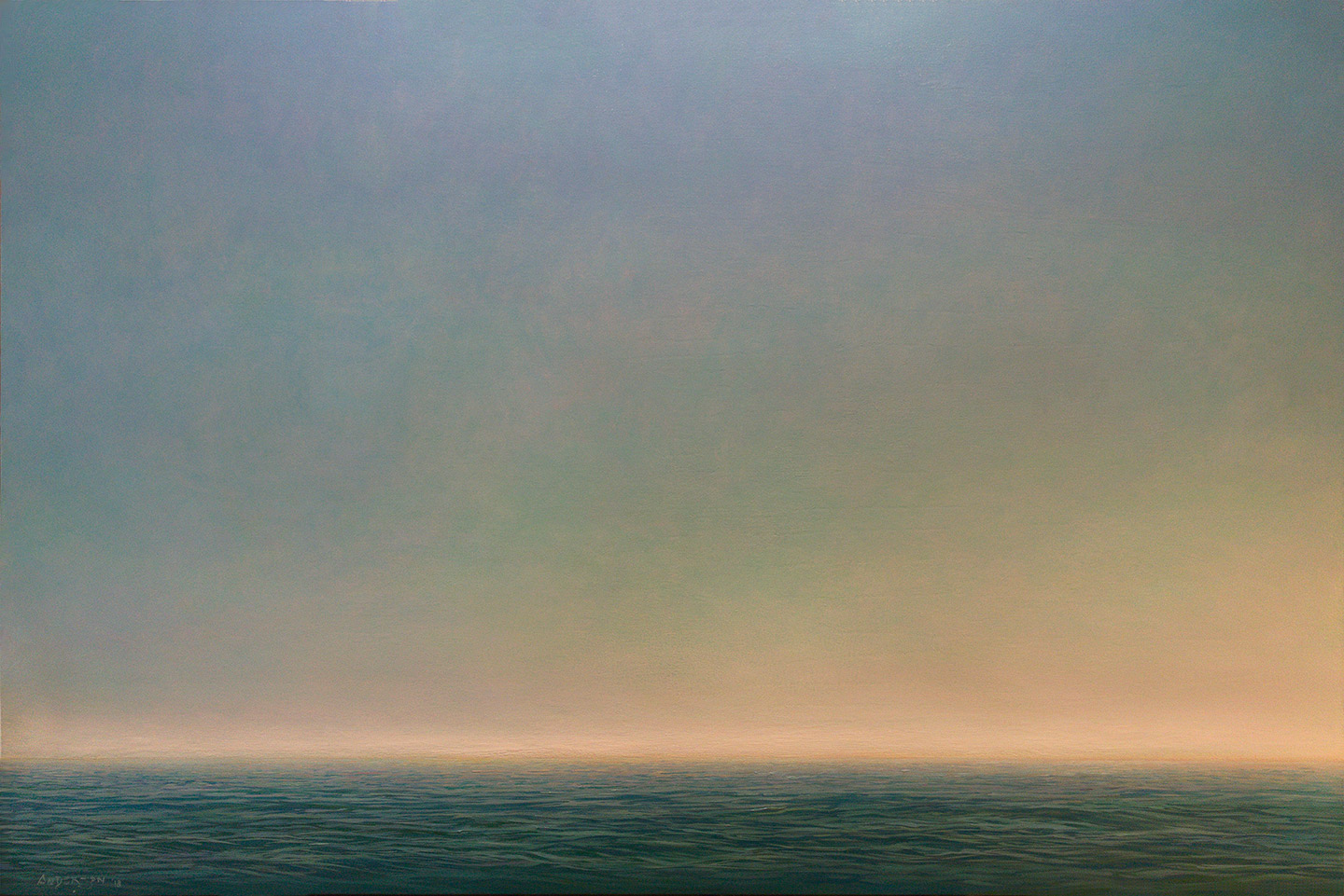 "OPEN WATER    40"" x 60""  oil on canvas"