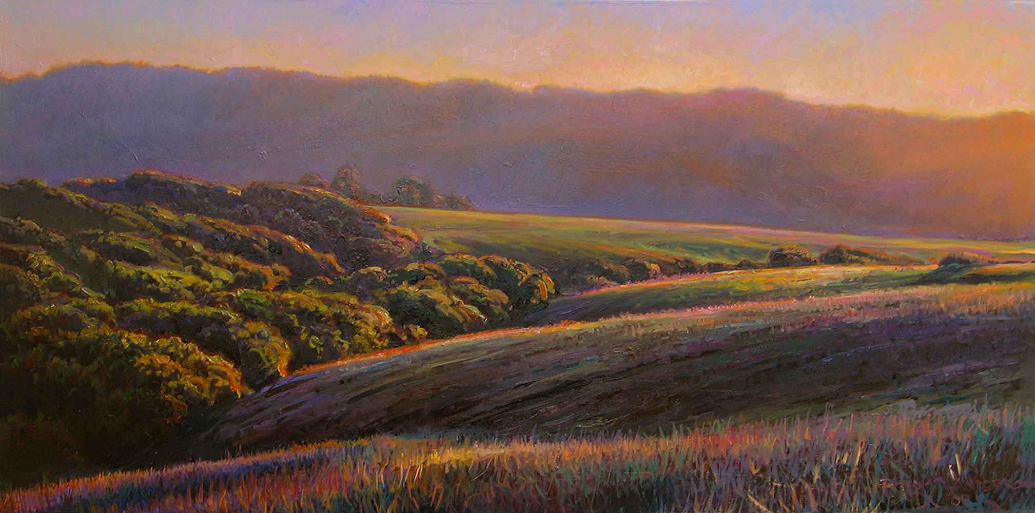 "BORDERLANDS, NO. 2   24"" x 48"" oil on canvas"