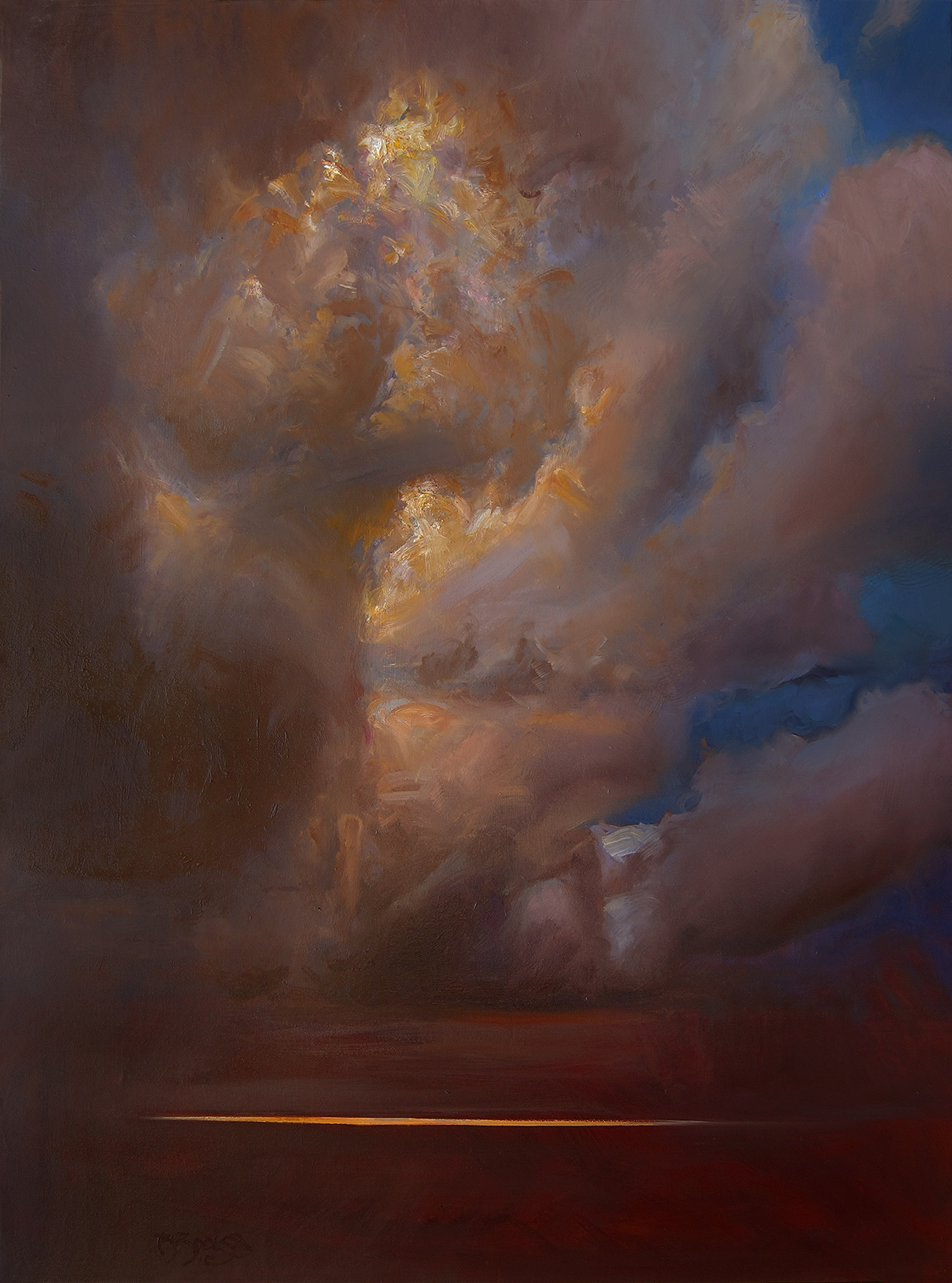 "ANDROMEDA, NO. 2   40"" x 30"" oil on canvas"