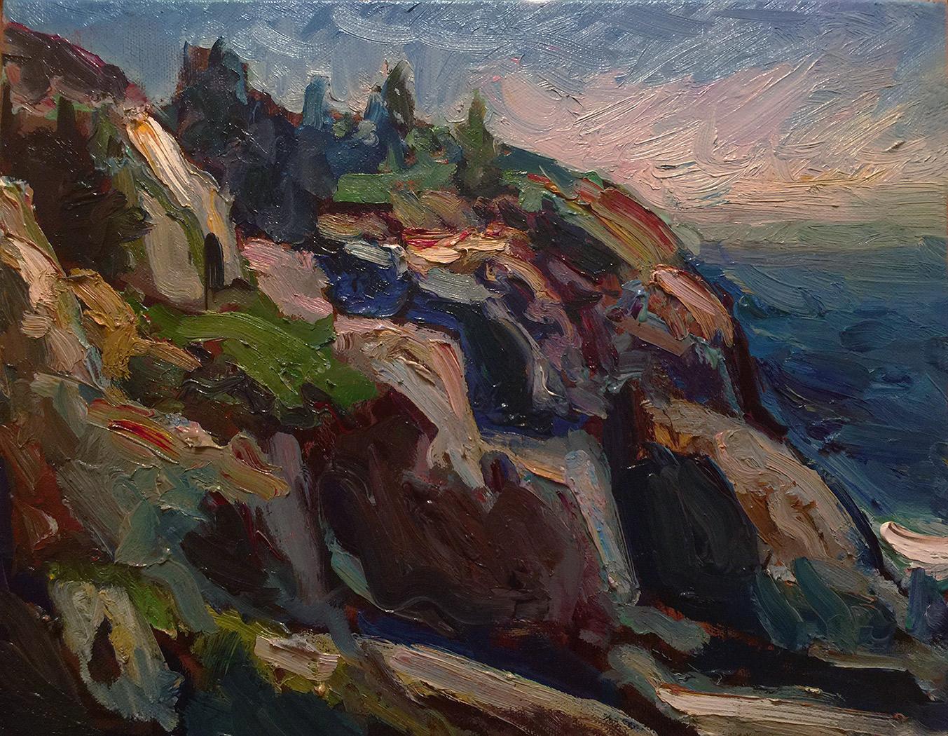"BLACKHEAD, MONHEGAN   11"" x 14"" oil on canvas"