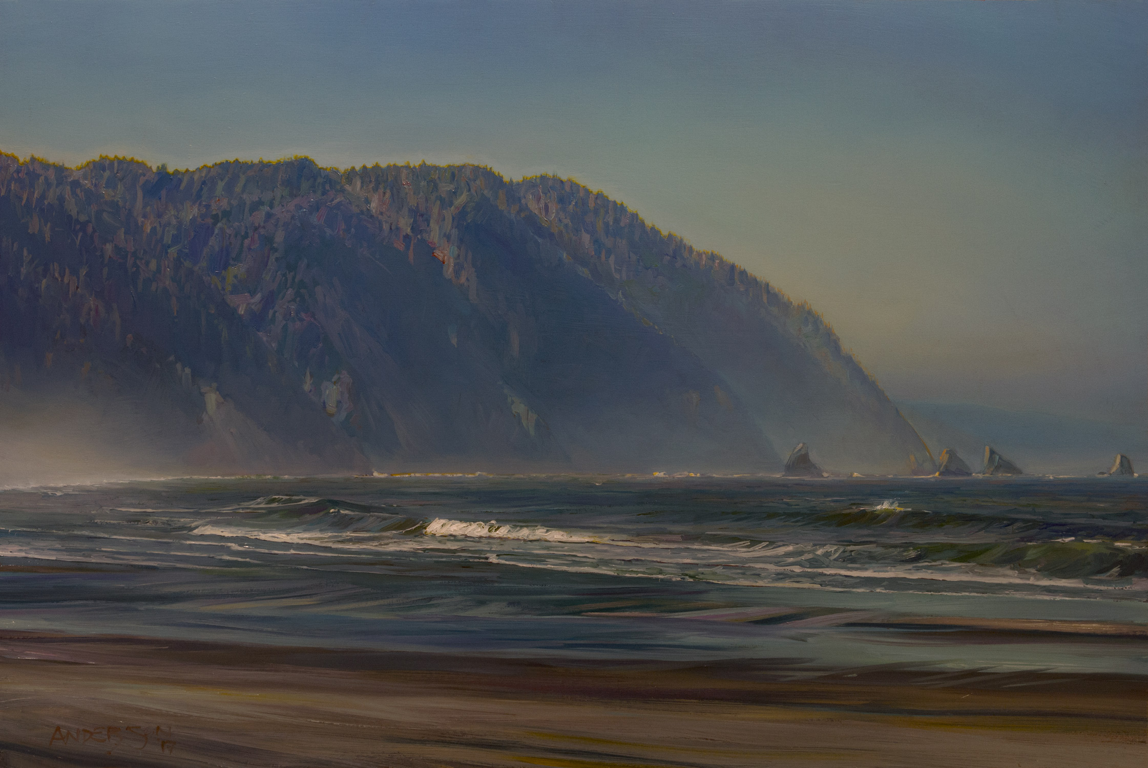 "HUMBOLDT COUNTY, NO. 4   24"" x 36""  oil on panel"