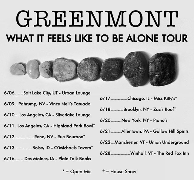 Okey dokey, so here's the final tour list. Bozeman canceled unfortunately, but TWO Vermont shows have been added due to popular demand. Hope to catch you all out in a city near you!