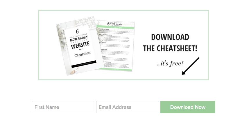 6 Small Tweaks Cheatsheet Content Upgrade