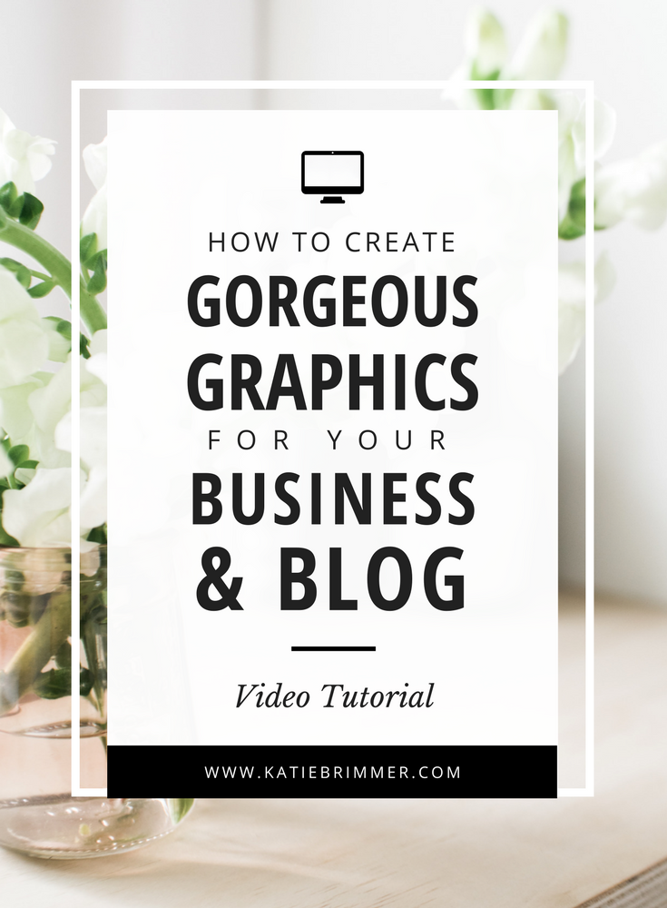 Canva Tutorial: How to Create Gorgeous Graphics For Your Business & Blog | Want to create gorgeous graphics for your business and blog? In this video tutorial to show you how I create everything from blog post images, Instagram posts, Pinterest graphics, Facebook ads, website banners, to printable pdfs with Canva.