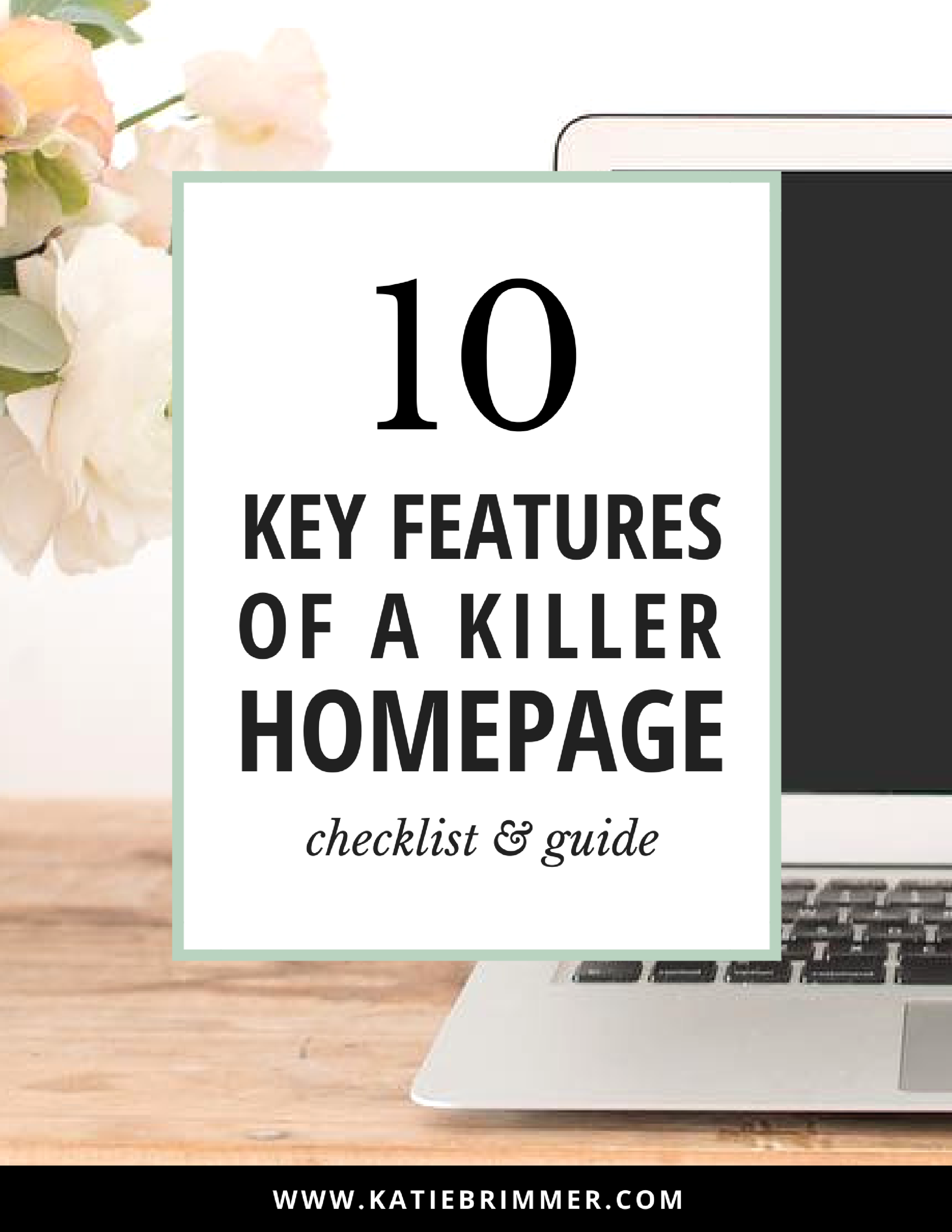 10 Key Features of a Killer Homepage | Ever feel overwhelmed with what you should really have on your homepage? It's all about igniting intrigue within your visitors, and encouraging exploration into your site, getting them to click, engage, and take action. In this post I'll show you the 10 key features you need to include to make a killer homepage for your website or blog.