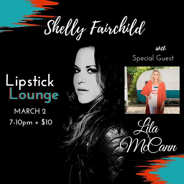 Hope to see ya'll Saturday night at @the_lipstick_lounge! Gonna lay down a few with my buddy @brucewallacemusic before the amazing @shellyfairchild!