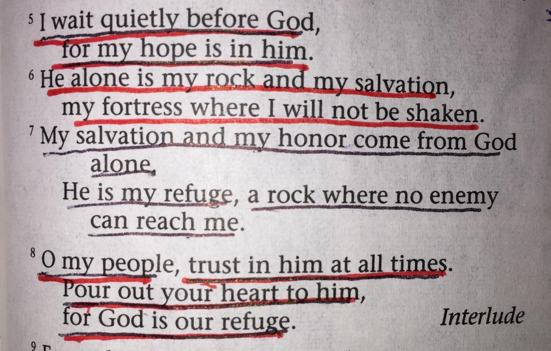 Psalm 62:5-8