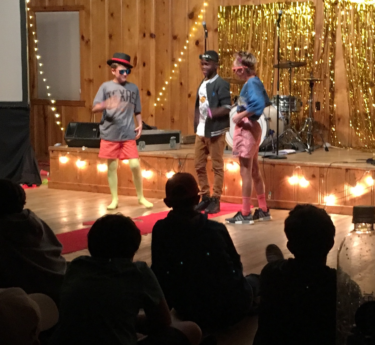 Our 6th grade boys stealing the Talent Show.