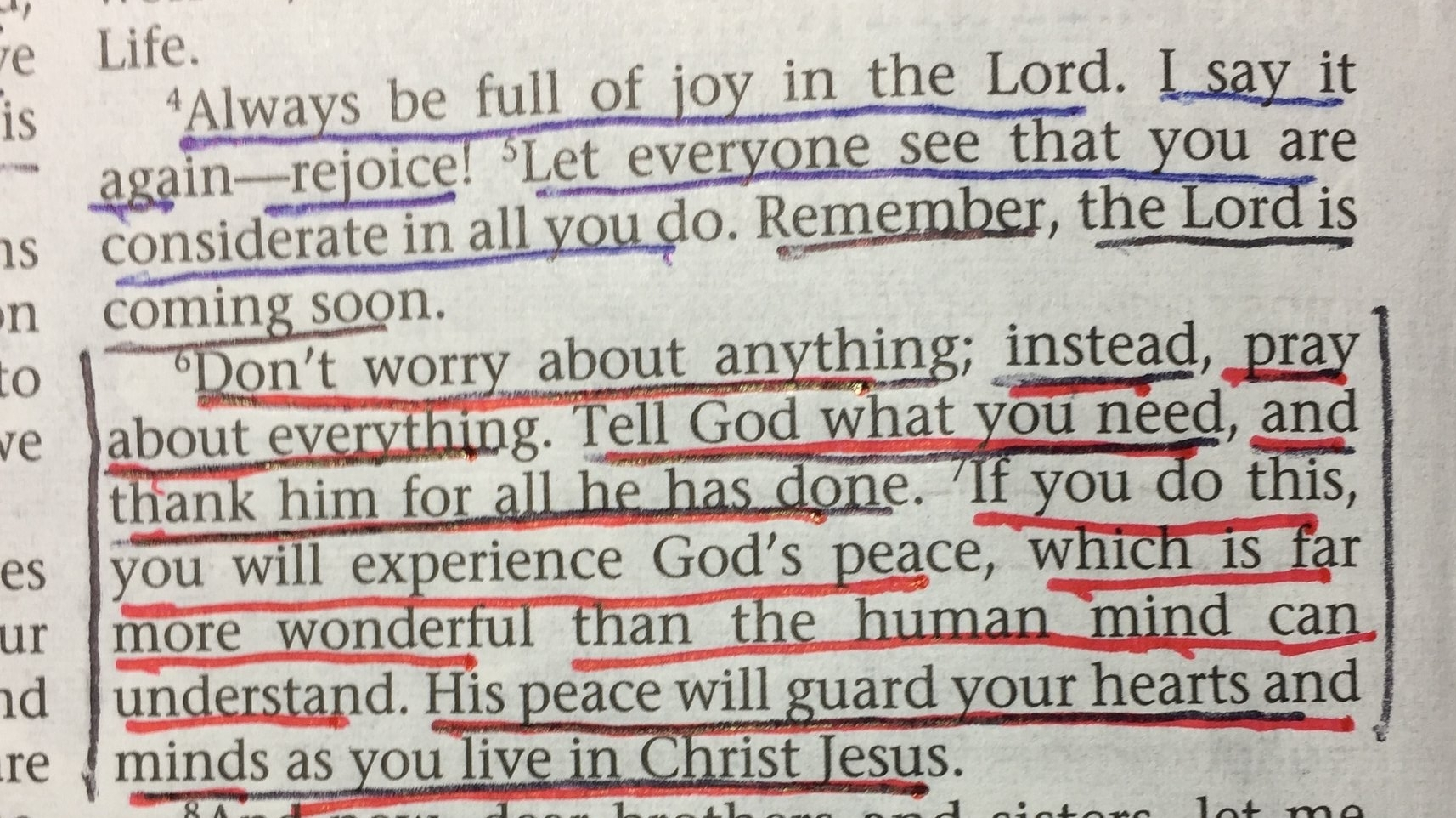 Philippians 4:6-7 - pray about everything!
