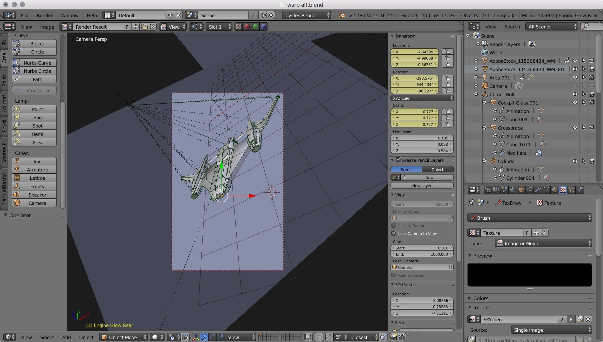 Blender 3d model of  Bernard's Beauty  for 43 Seconds
