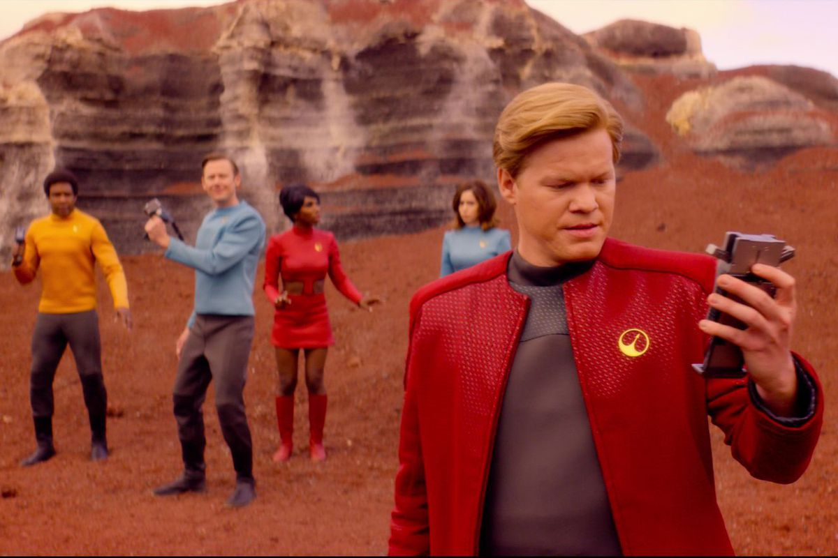 Black Mirror's USS Callister is similar to John Scalzi's Red Shirts, but plenty of fun none-the-less. I watched it more than once.