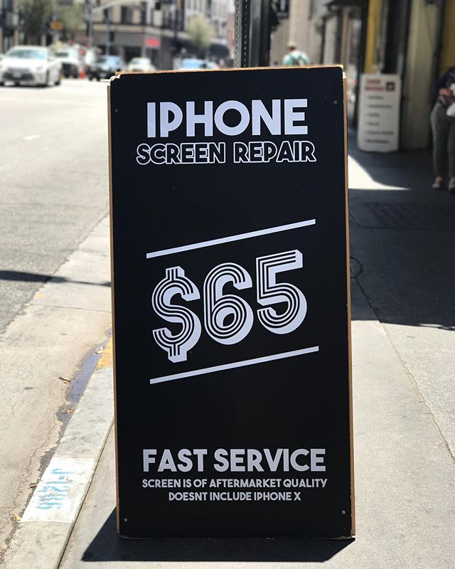 iPhone screen replacement. Iphone 6 - 8 $65 Repaired in 20 min !  3234191971 210 w 8th st la ca 90014 Monday - saturday  10am - 6pm  Send us a message if you have any questions about a phone repair. . . . . . . . . . . #iphonerepair  #iphonerepairs #phonerepair #phonerepairs #samsung #iphone #iphone6 #iphone6s #iphone8 #iphone7  #happeningdtla #dtla #downtownla #downtownlosangeles #laevents #brokenphone #losangeles ##cellphonerepair #iphonerepair #glassrepair #repair #ifixit #screenrepair #iphonerepair #screenrepair #crackediphone #crackedscreen #phoneshop #thecellphonespot #cellphone #samsung