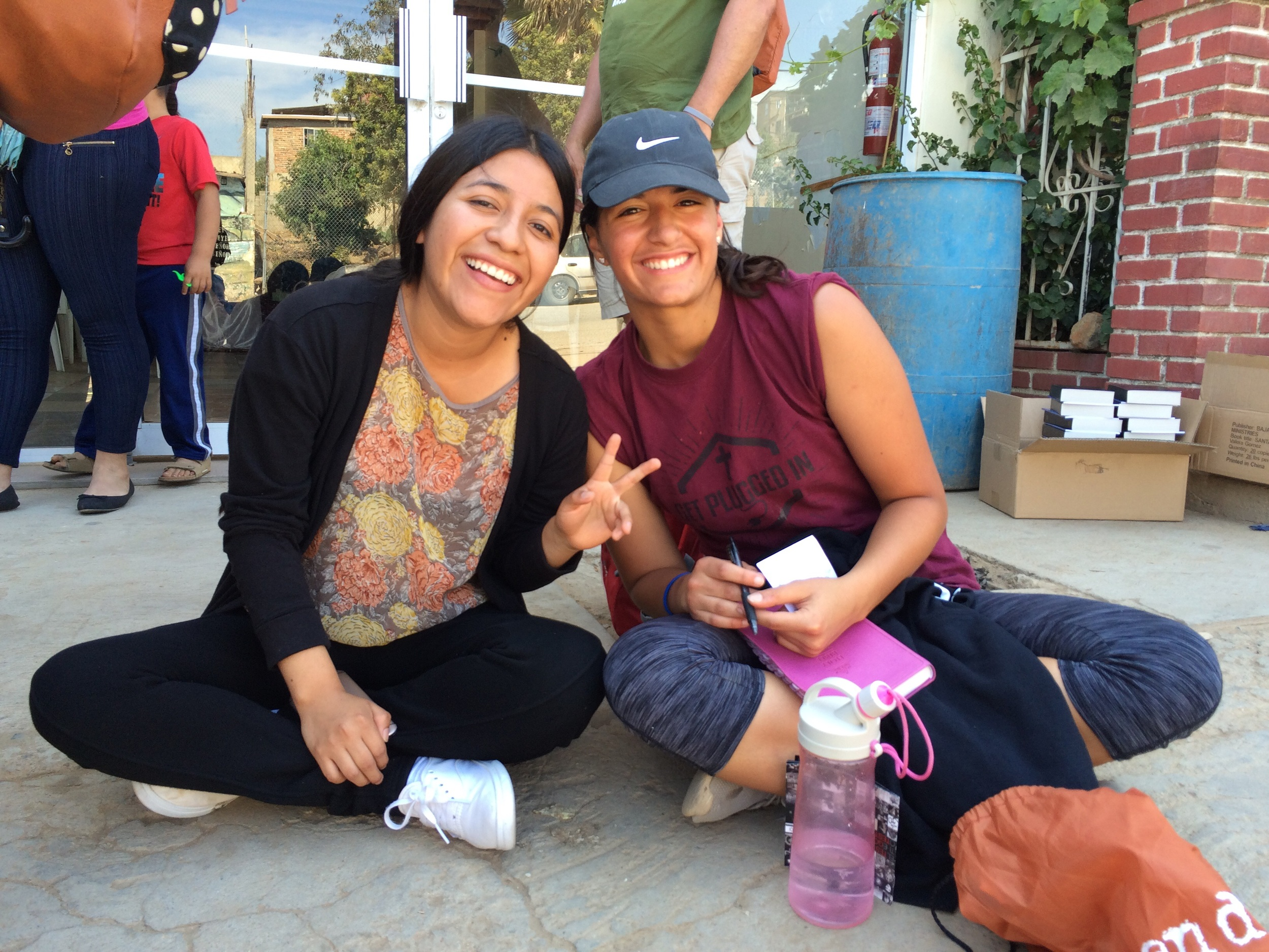 Ornella shared the Gospel with this young lady