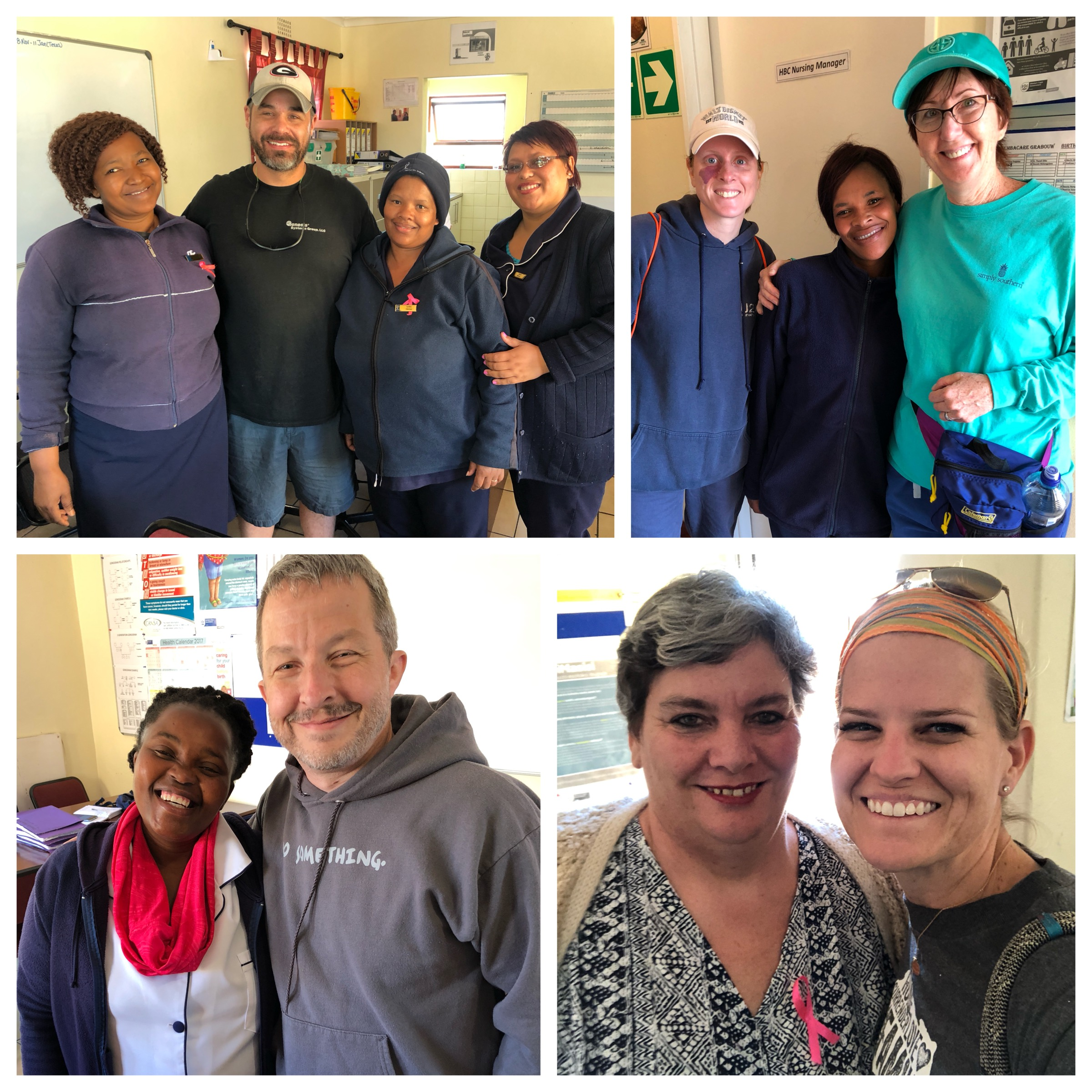 "Each day 4 team members go out in to the community and walk with the ""Angels"" (Thembacare Clinic nurses). These Angels are selfless as they administer meds and care for patients struggling with HIV, TB and AIDS. Way more than nurses, they are aptly named. What an honor to walk with them."