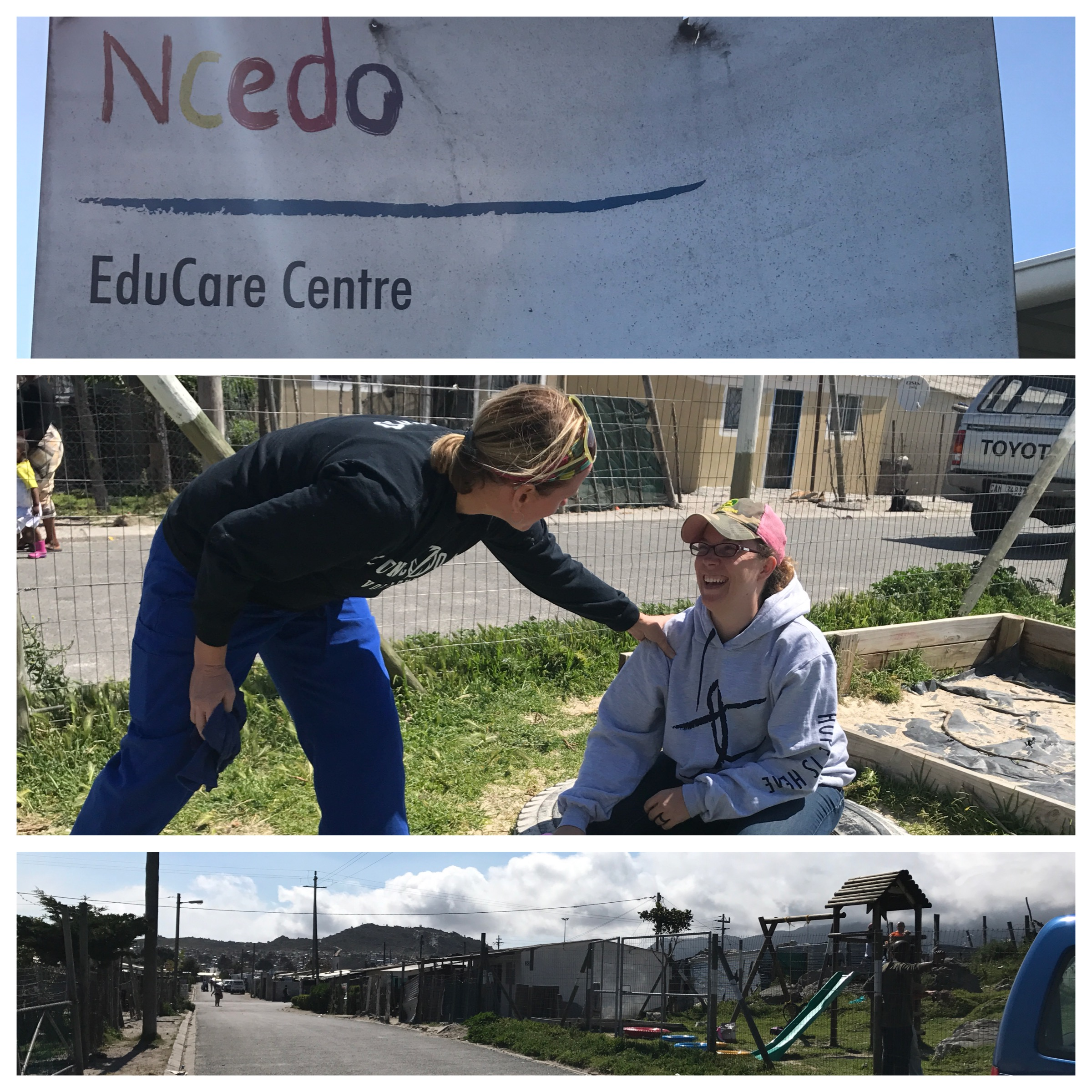 Educare! Crèches/preschools that serve hundreds of kids. 3 sites in this community. We are doing multiple projects at these locations this week - painting, building, repair, playing with kiddos, and MORE!