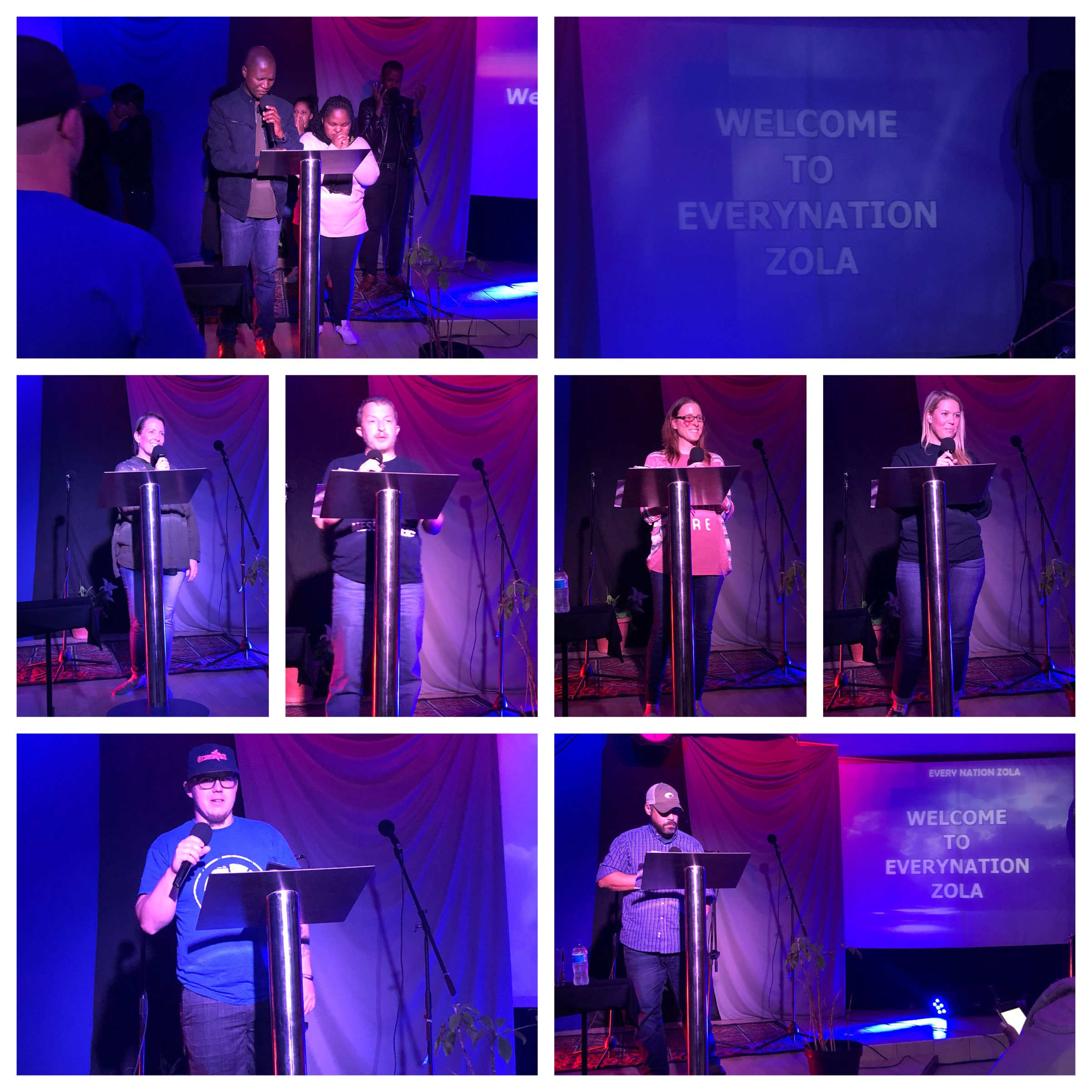 ENZola was amazing (videos below!!). Quotes from our speakers this evening:    Dena: What a joy to worship as His children- all nations together. We are family.   CJ:  Jesus takes us just as we are but loves us too much to leave us that way.    Katrina:  God is my Father and He is my children's father! He has changed our life!    Joe:  Plant seeds for those you love. They will grow in God's time.    Amy:  I have a promise that God will heal me. God is the only one who can keep a promise like that.    Alan:  I can't imagine what my life would be without Christ! Nothing can separate us from his love.