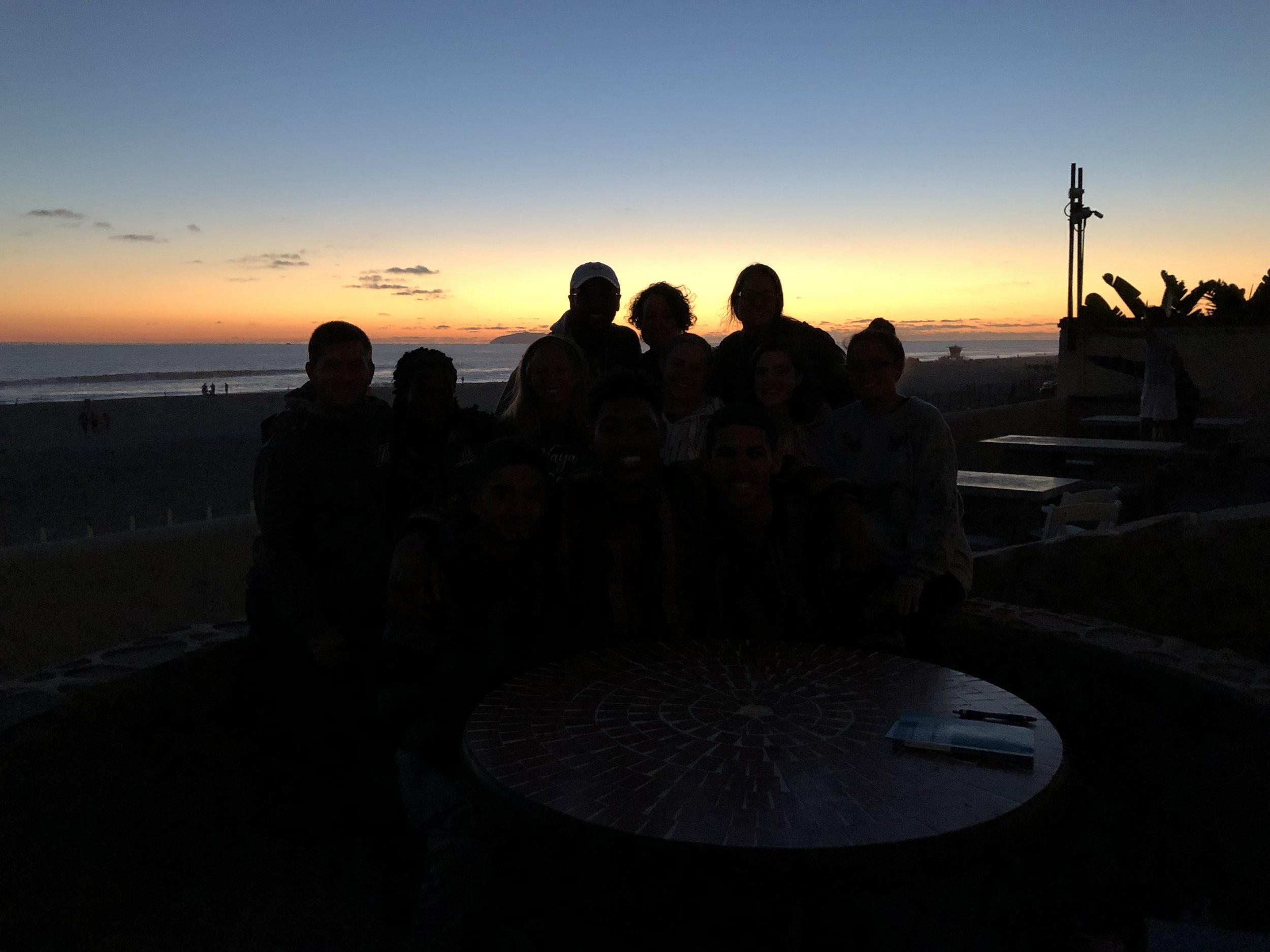 Turns out it's really hard to get a nice picture of the sunset and get people to show up. But we tried our best.