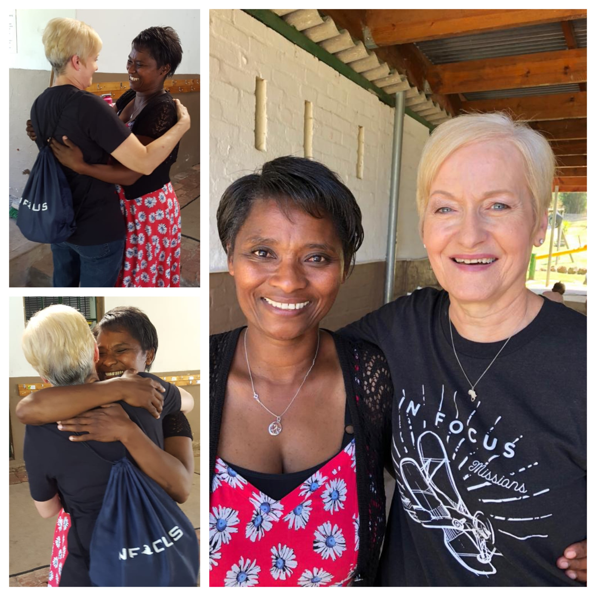 The reunion between Patti and Elizabeth was 6 people's JOY and JESUS for the day! They have been friends since the very first IFC trip to SA in 2007. God knits hearts! He has friendship for us!