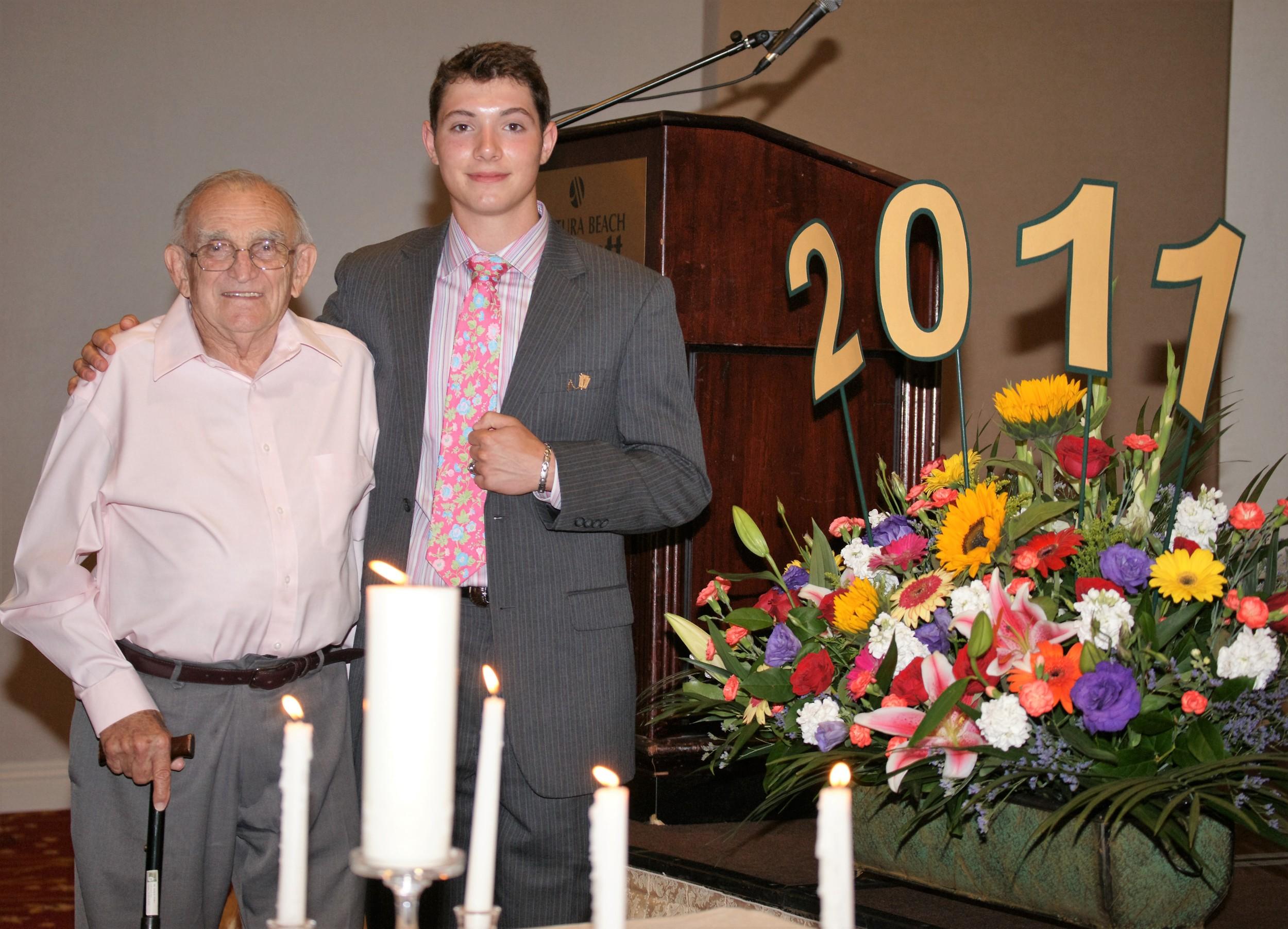 With Grandpa at High School Graduation