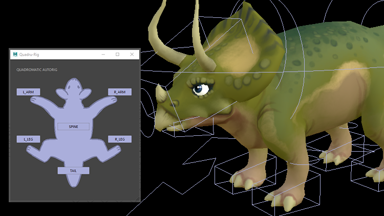 Quadru-Rig ::  An automated rigging tool for quadruped characters :: Programming