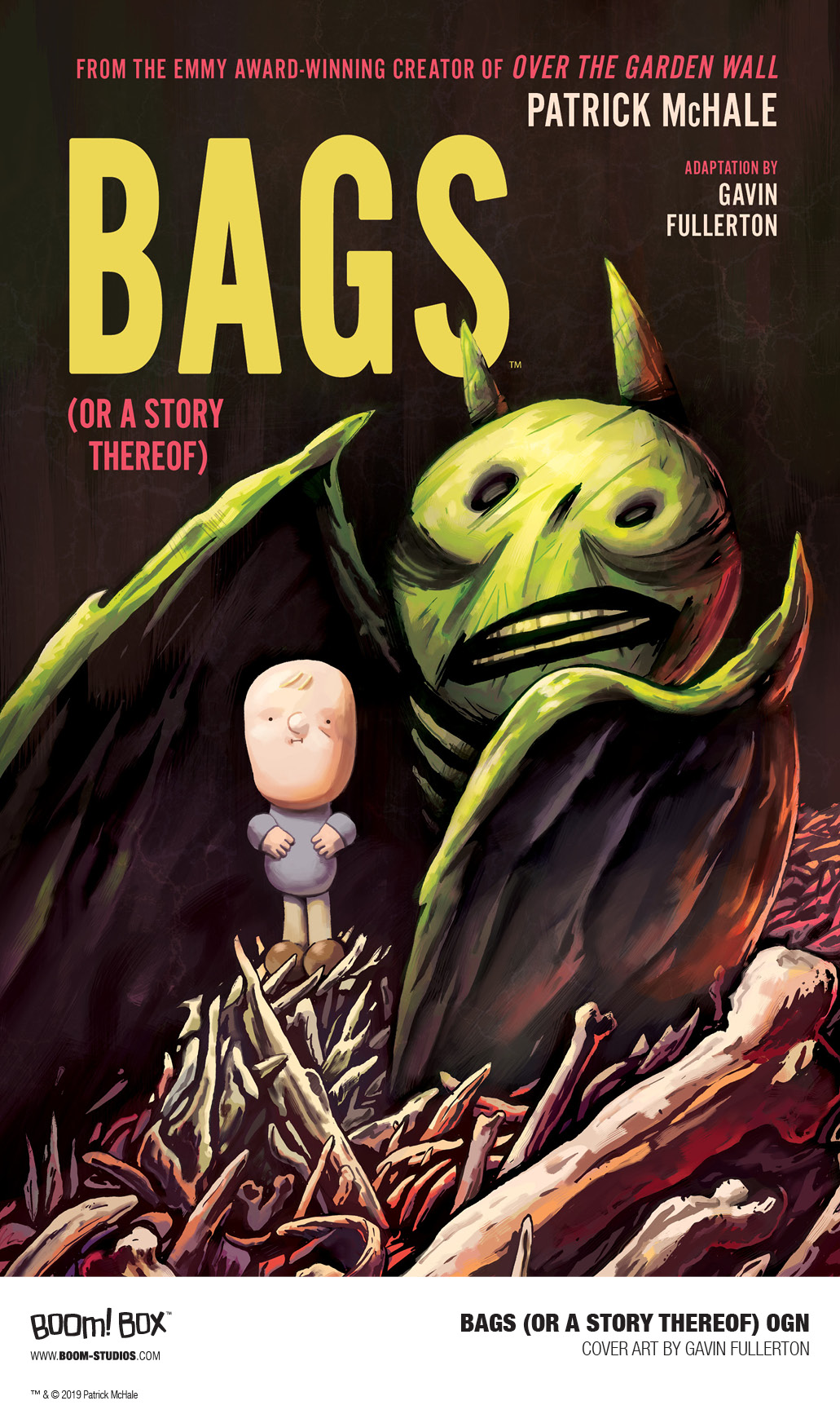 Bags (Or A Story Thereof) is my first graphic novel from Boom! Studios. Adapted from the short story of the same name by Patrick McHale (Over the Garden Wall). It's about a man called John Motts, who goes in search of his missing dog. Out July 17th!