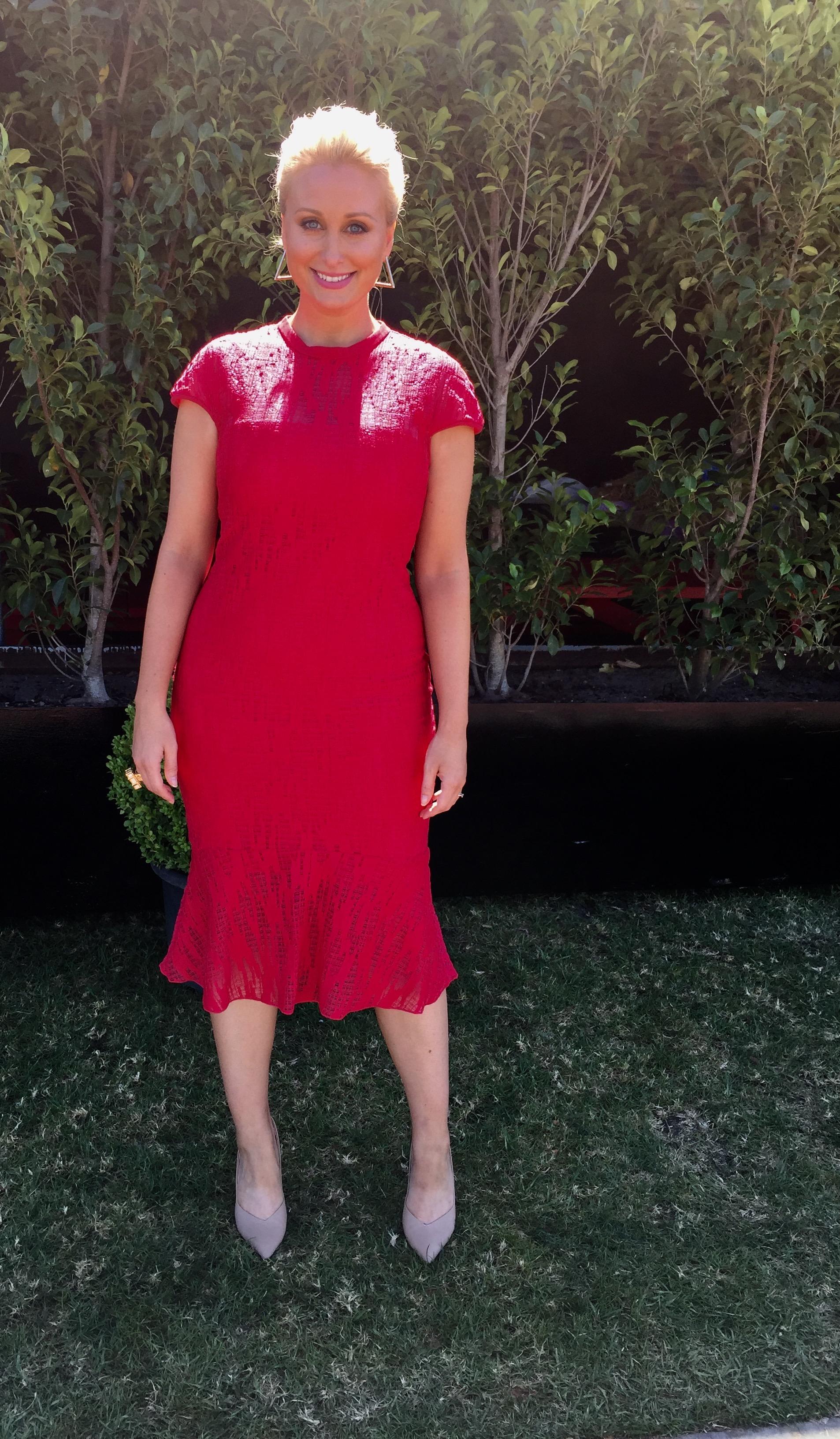 Dress:  Ginger and Smart Manhattan dress  | Shoes:  Tony Bianco  | Earrings:  (similar)