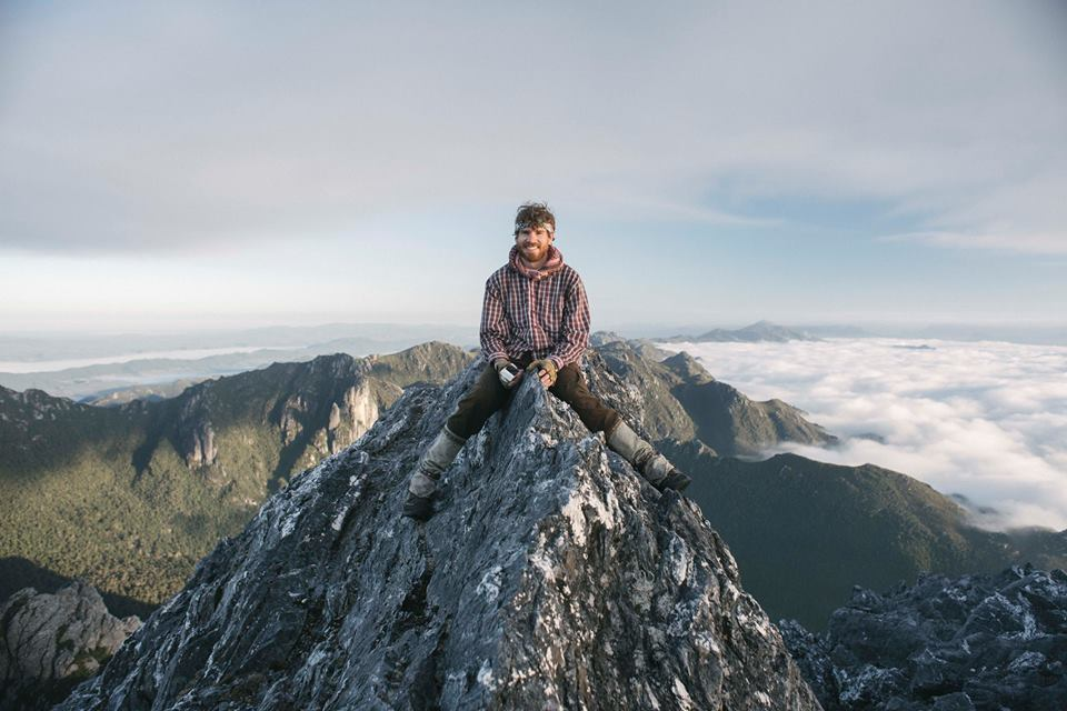 Pats Photo of yours truly on Coronation Peak in the Frankland Range. March 2016 Tasmania
