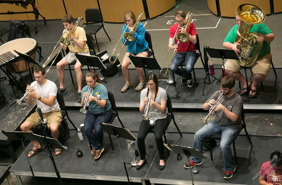 Matt is pictured here in the principal trombone seat.