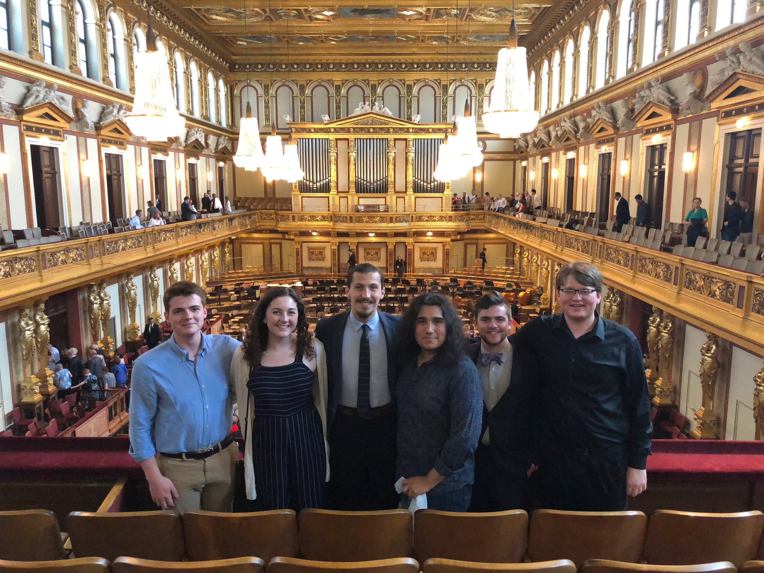 5 studio members in the Wiener Musikverein after a performance of Beethoven's 9th Symphony by the Vienna Philharmonic!