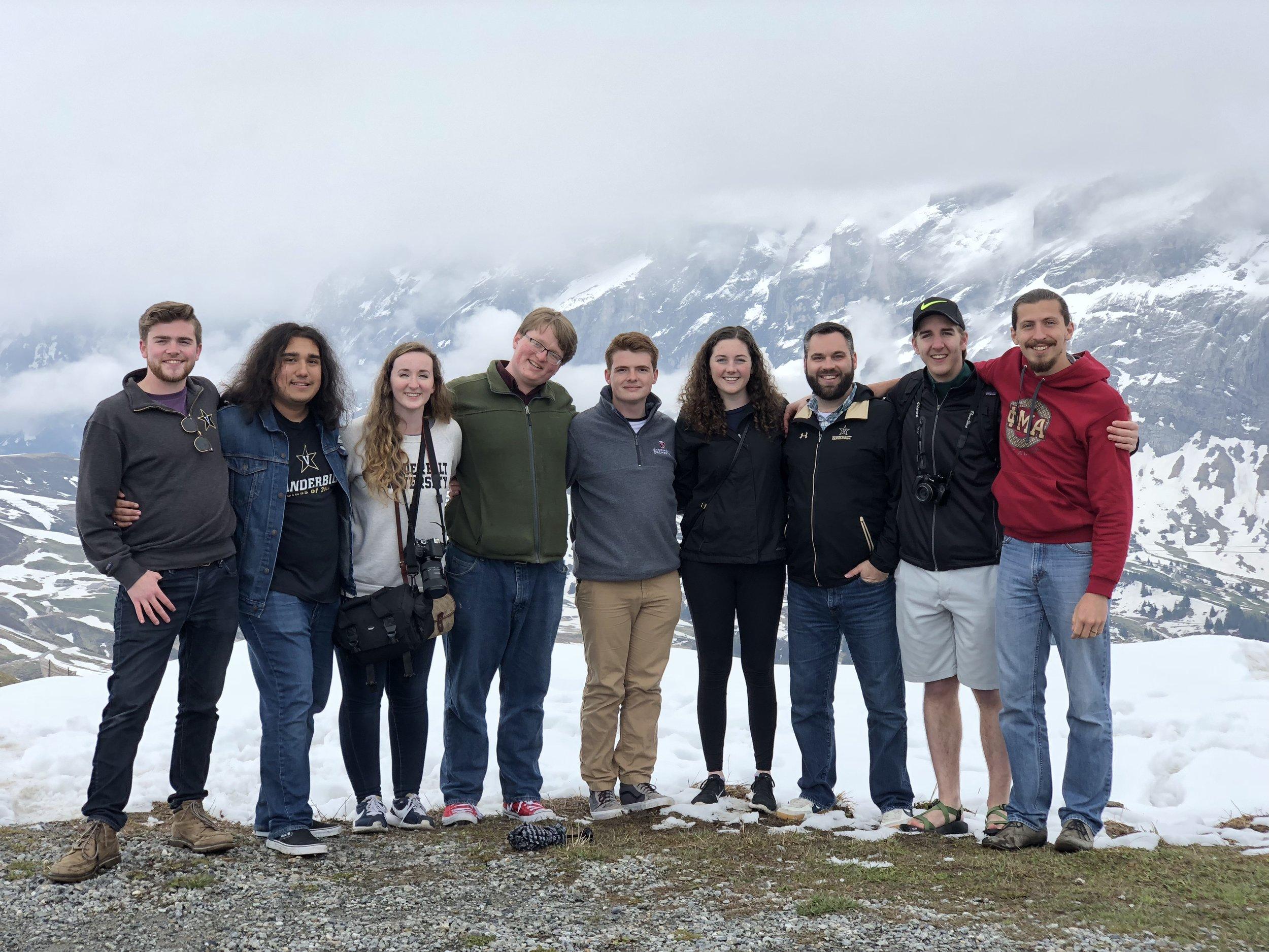 Atop a mountain near Grindelwald, Switzerland