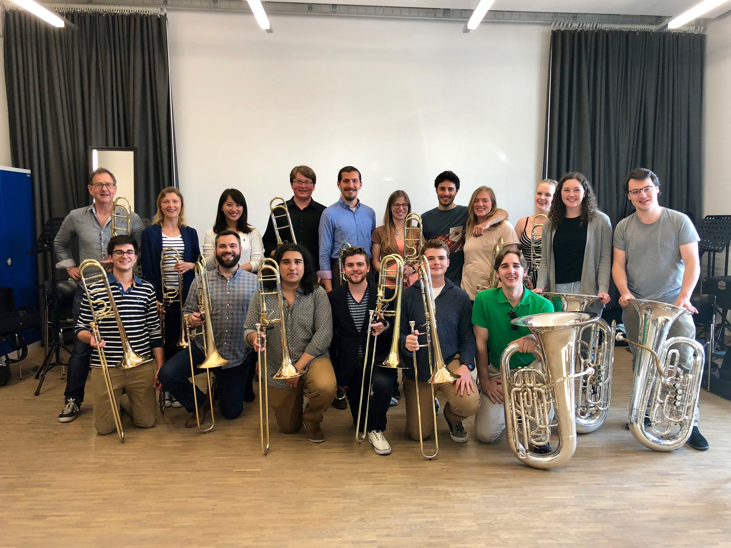 With the trombone students of the Hochschule Der Kunst in Bern!