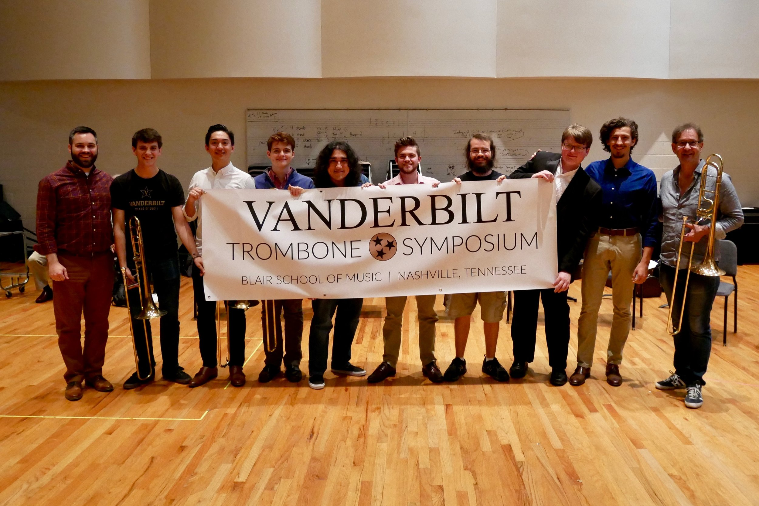 With guest artist Ian Bousfield celebrating the 1st ever Vanderbilt Trombone Symposium
