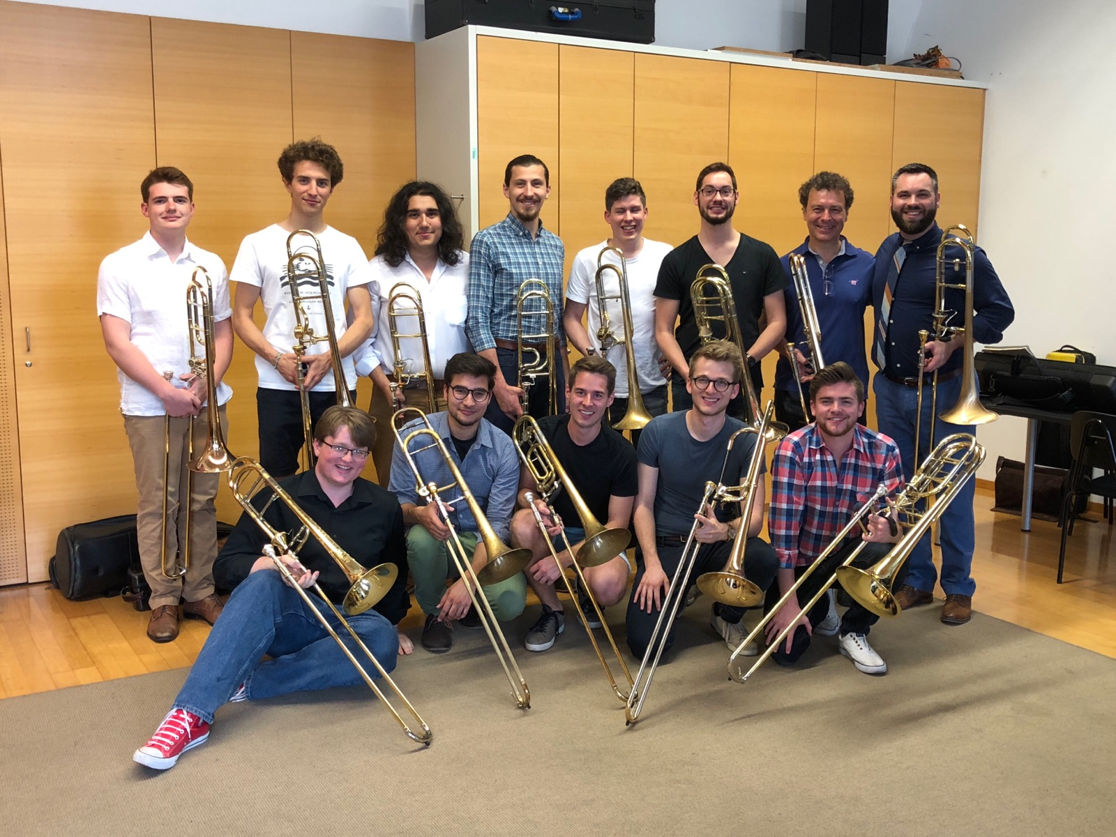 With the trombone students of Dietmar Küblböck in Vienna!