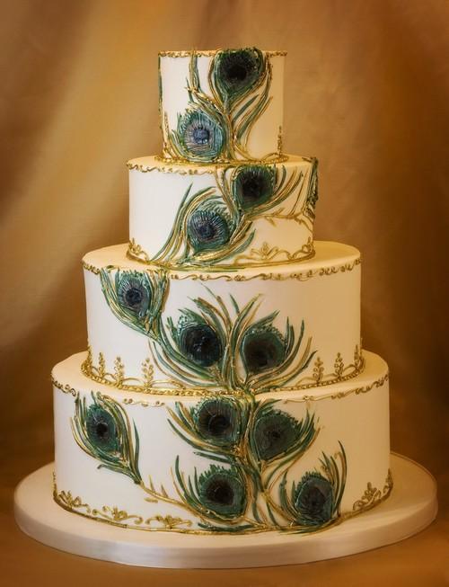 Peacock Wedding Cake.Peacock Wedding Cakes Are Hot Cake Coquette