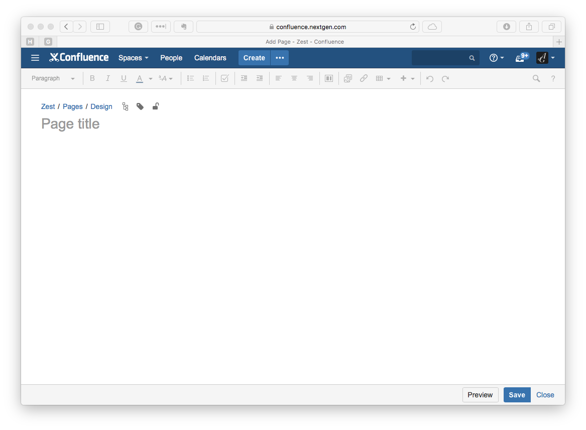Confluence offers a powerful WYSIWYG editor that is collaborative, easy to use, and integrates seamlessly with JIRA