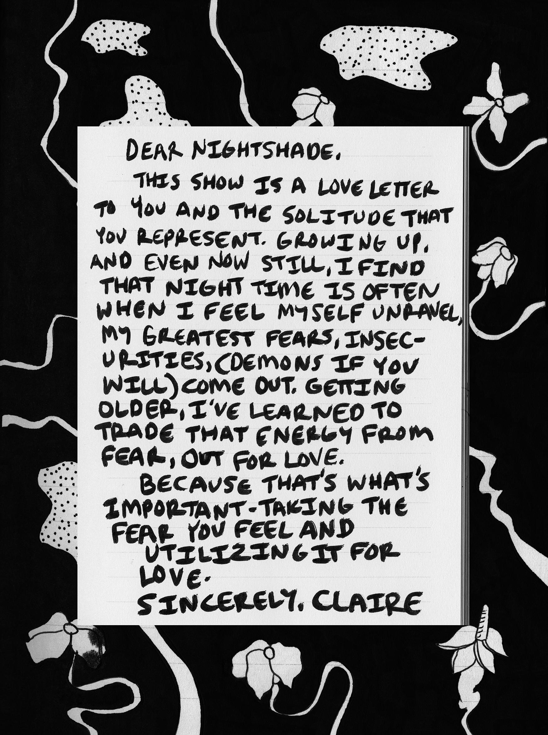Night Shade Press Letter