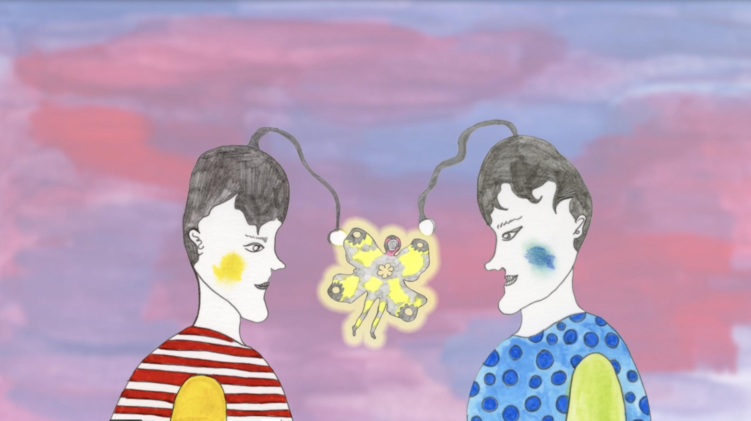 """Still from """"Bleeding Heart Garden: A Feeling in a Flower,"""" 2019   http://loisprojects.info/"""