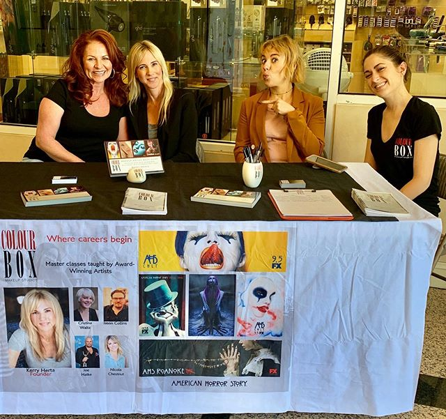Meet the amazing @kerryhertamua @colourboxmakeup @colourboxmakeupalumni TODAY @naimies when do you get to chat with your hero ... EVA?!?! Come on by 12640 Riverside Drive, Valley Village