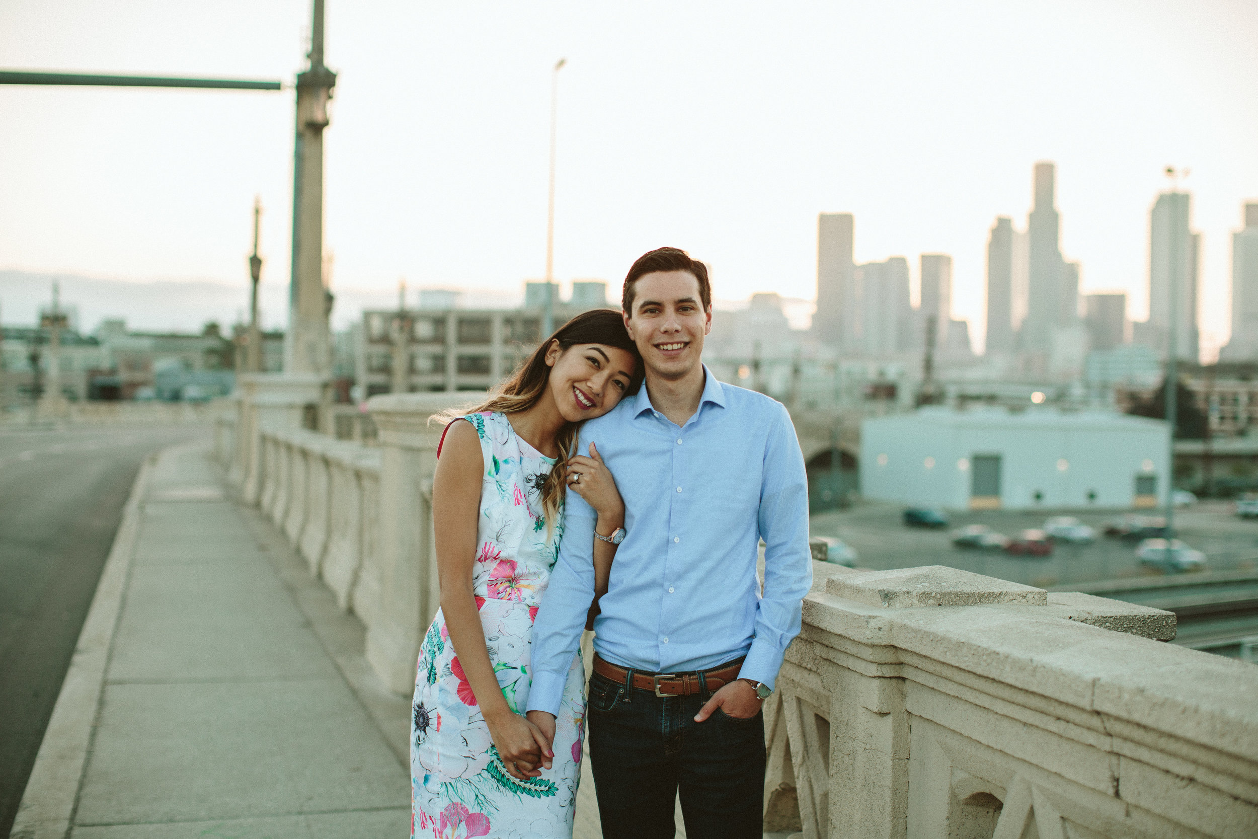 arts district engagement session