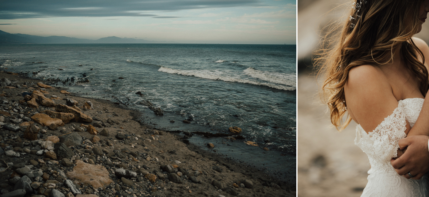 Moody Beach Wedding Photographer
