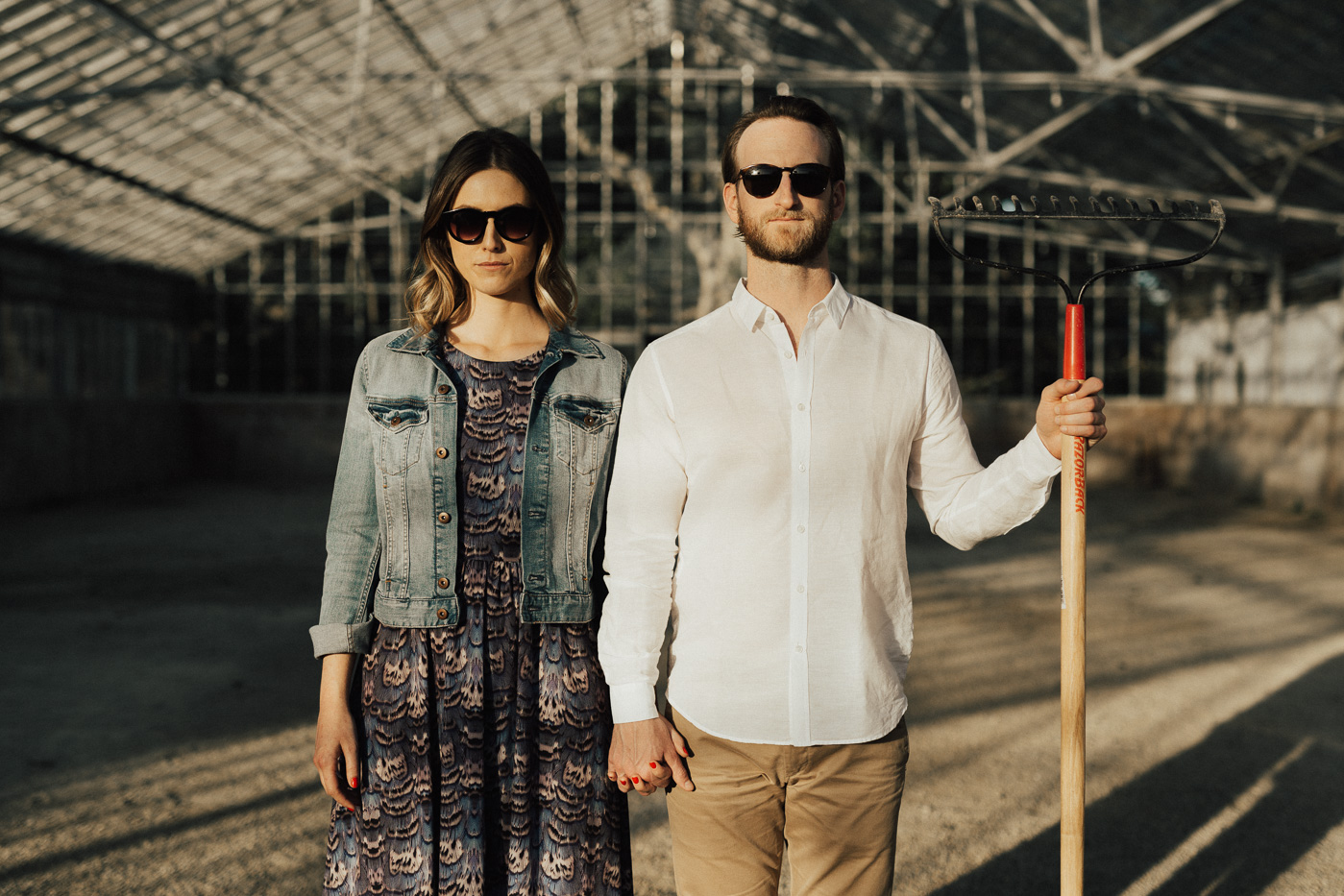 American Gothic Engagement