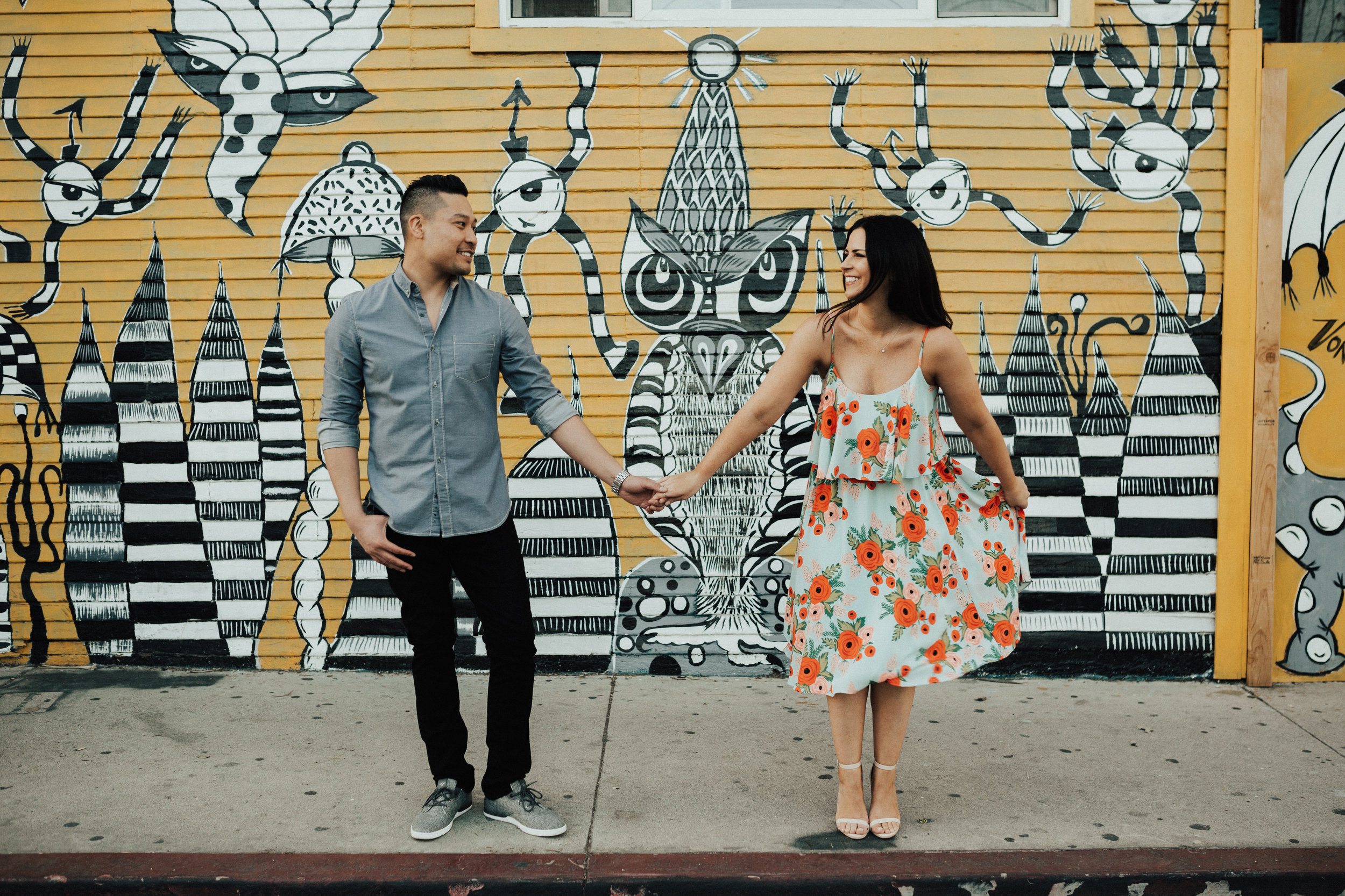 funky wall unique engagement