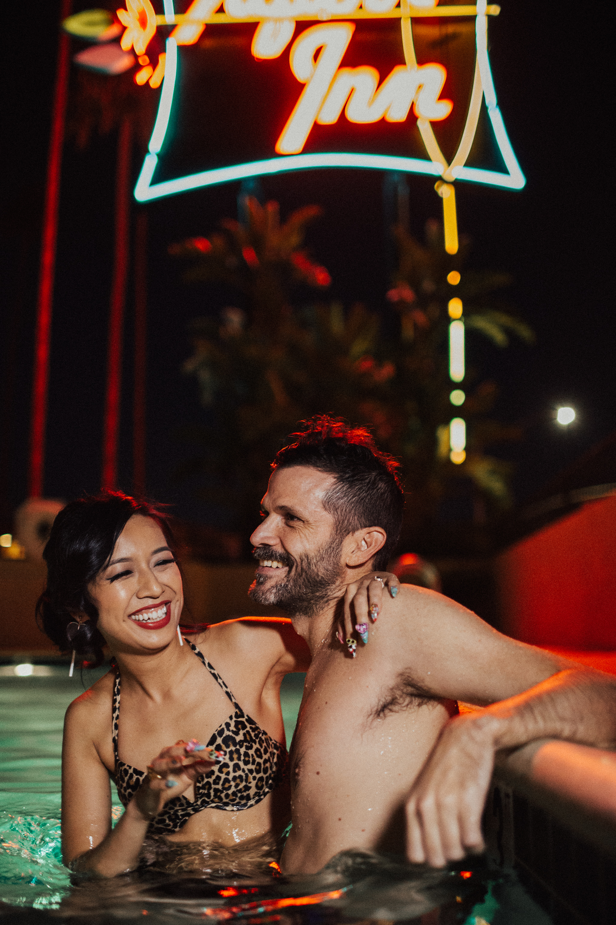 hotel pool engagement session
