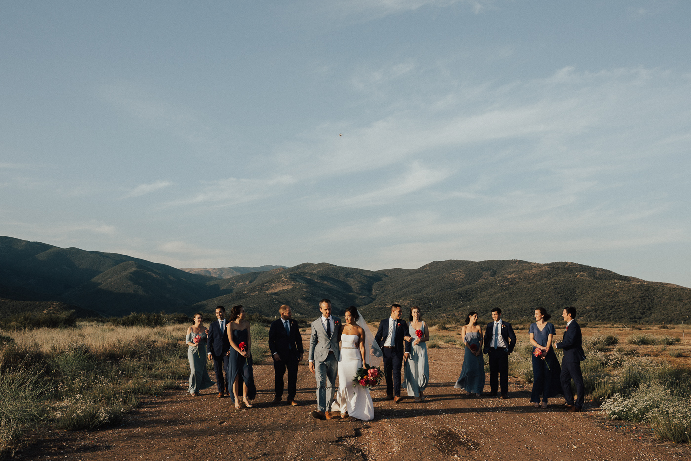 full bridal party shot