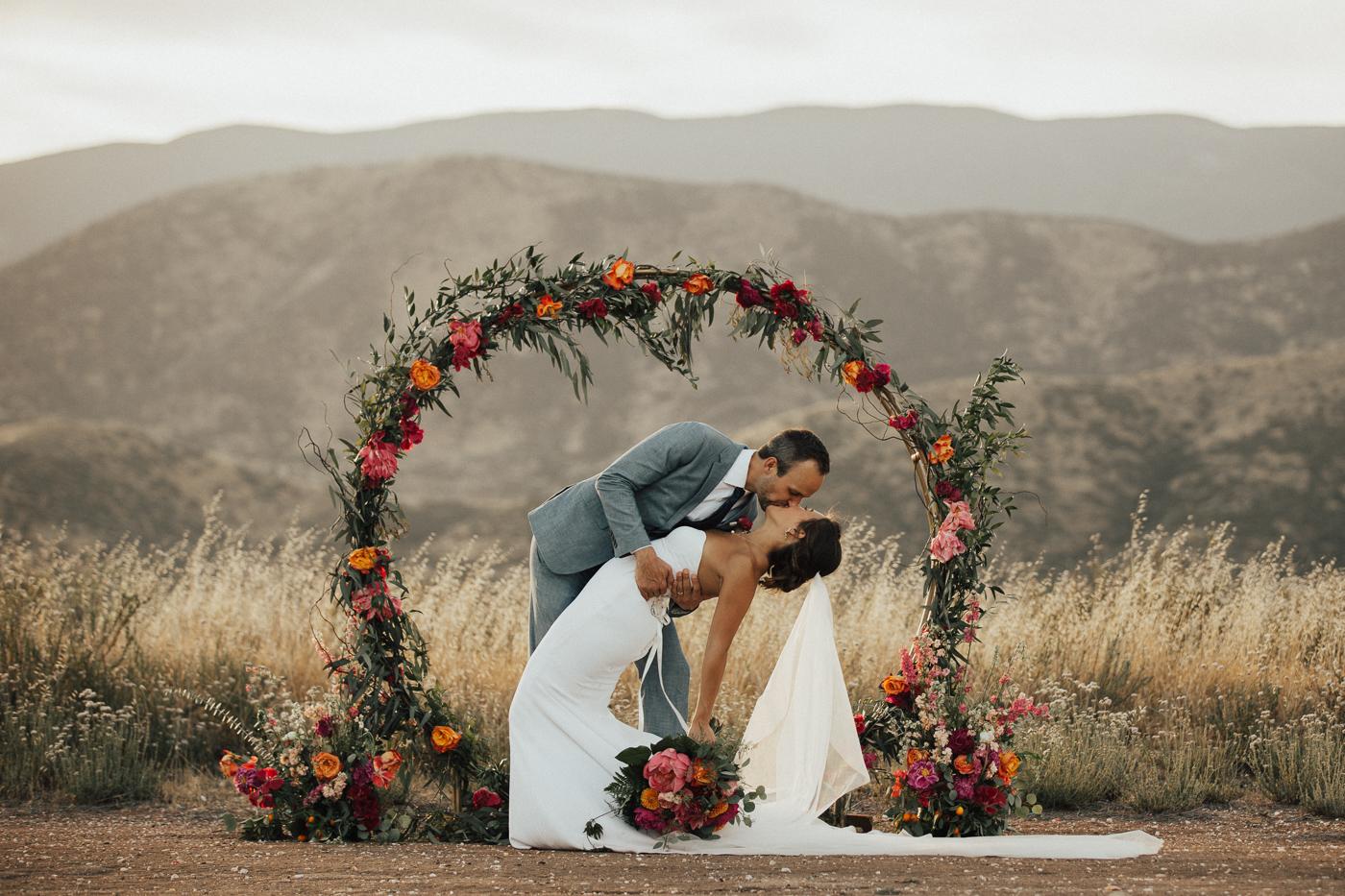 petal floral wedding photo