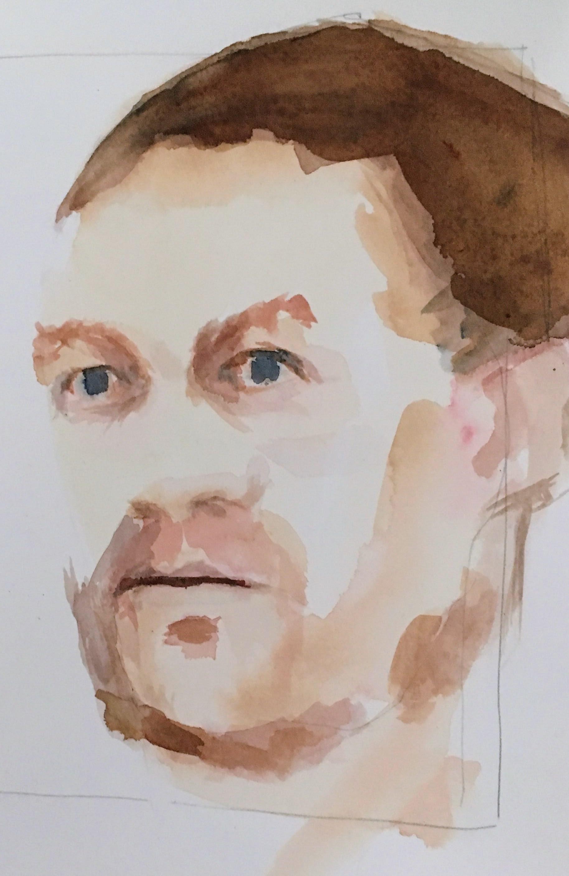 Alan watercolour sketch