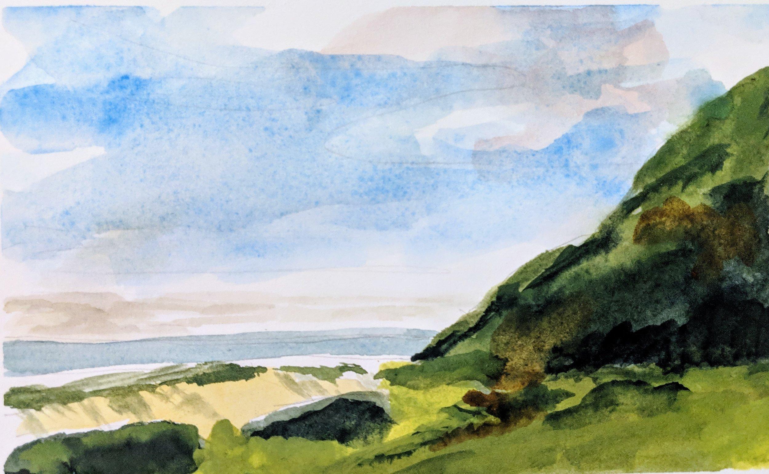 Beach Watercolour ii
