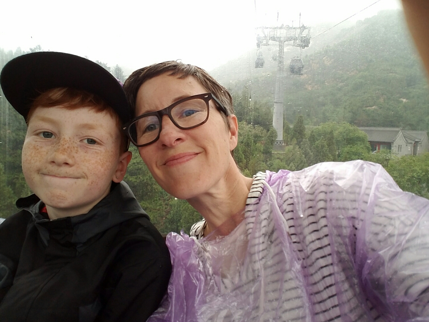 This will serve as a placeholder until I can upload the video of our journey back down the mountain in a suspended cable car. In the video you can hear us screaming. In fear or delight. Unsure.